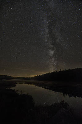 Milky Way Over Costello Creek Print by Robert Postma