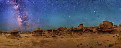 Goblin Photograph - Milky Way Over Goblin Valley by Walter Pacholka, Astropics