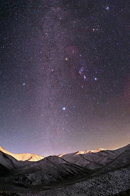 Snowy Night Photograph - Milky Way Over Zagros Mountains by Babak Tafreshi