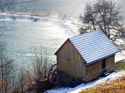 Old Mill Scenes Photograph - Mill And River by Sinisa Botas