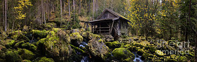 Europe Photograph - Mill At A Brook Panorama by Sabine Jacobs