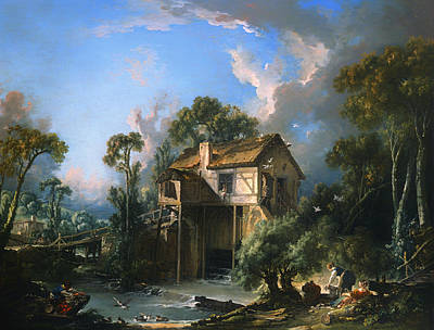 Water Mills Painting - Mill At Charenton by Mountain Dreams