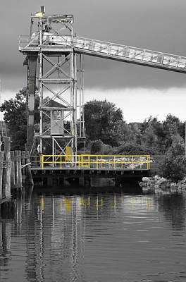 Mill In Selective Color  Print by Francie Davis