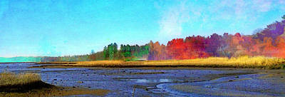 Waterview Painting - Mill Neck by Robin Mead