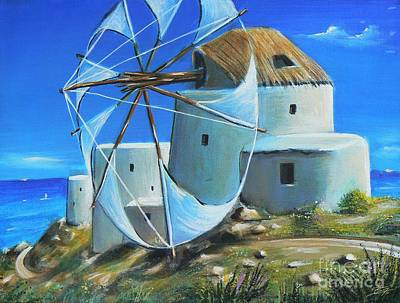 Landscapes Painting - Mill On The Hill by Susi Galloway