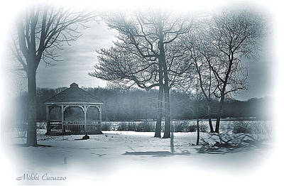 Mill Pond In Winter Print by Mikki Cucuzzo