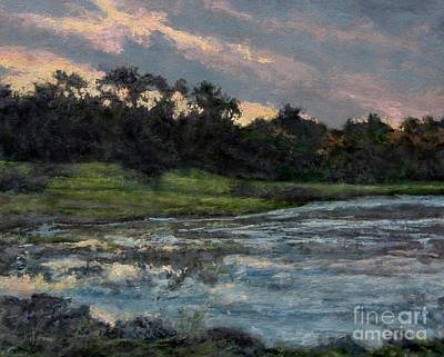Painting - Mill Pond Reflection by Gregory Arnett