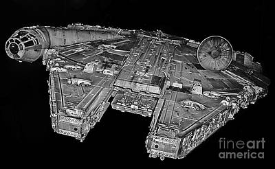 Millennium Falcon Print by Kevin Fortier