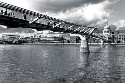British Photograph - Millennium Foot Bridge - London by Mark E Tisdale