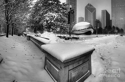 Chicago Photograph - Millennium Park In Winter by Twenty Two North Photography