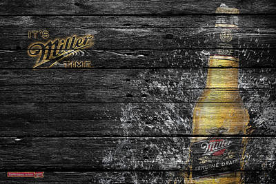Handcrafted Photograph - Miller Beer by Joe Hamilton