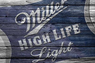 Handcrafted Photograph - Miller High Life by Joe Hamilton