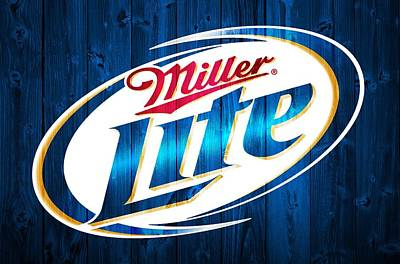 Liquor Mixed Media - Miller Lite Barn Door by Dan Sproul