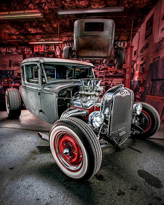Millers Chop Shop 1931 Ford Coupe Print by Yo Pedro