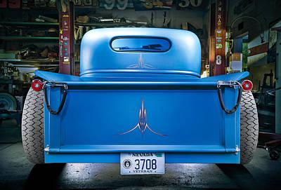 Millers Chop Shop 46 Chevy Truck Rear Print by Yo Pedro