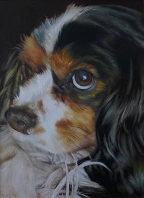Barking Painting - Milo by Cherise Foster