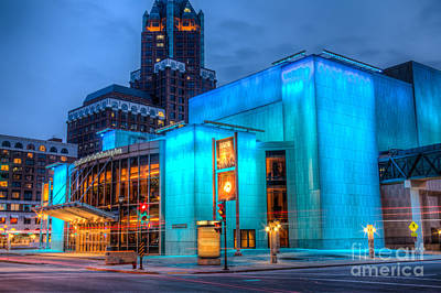 Milwaukee Pac Evening Glow Print by Andrew Slater