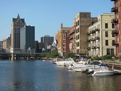 Milwaukee River Architecture 2 Print by Anita Burgermeister