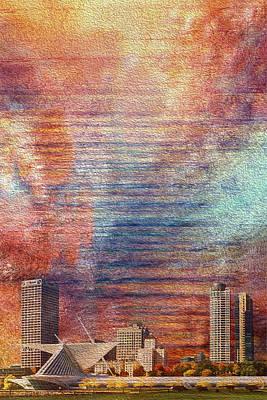 Painter Digital Art - Milwaukee Skyline by Jack Zulli
