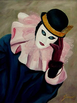 Mime With Thoughts Original by Gino Didio