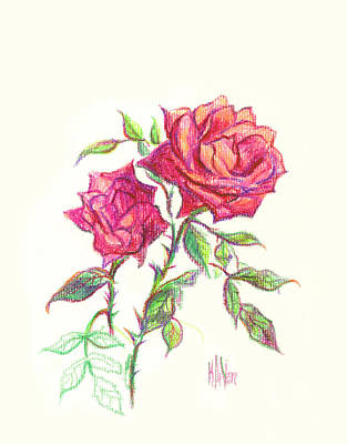 Minature Red Rose Original by Kip DeVore