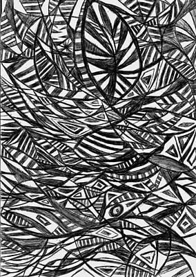 Mind Fishing Print by Rowan Van Den Akker