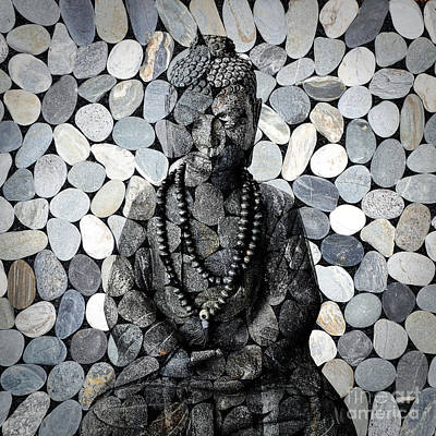Mind Photograph - Mineral Buddha by Delphimages Photo Creations