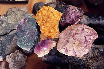 Semi-precious Photograph - Mineral Samples by Dorling Kindersley/uig
