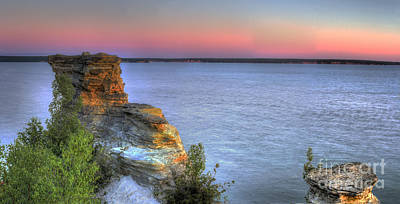 Northern Michigan Photograph - Miners Castle At Dawn by Twenty Two North Photography