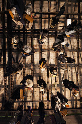 Rhone Alpes Photograph - Miners Clothing Hanging Room, Salle Des by Panoramic Images