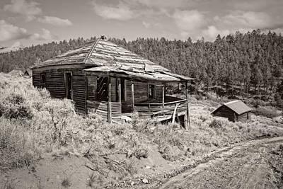Pioneer Homes Photograph - Miner's Shack - Comet Ghost Mine - Montana by Daniel Hagerman
