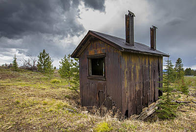 Daysray Photograph - Miners Shack by Fran Riley