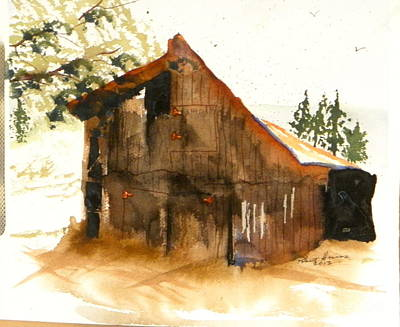 Miners Shack Print by Robert  ARTSYBOB Havens