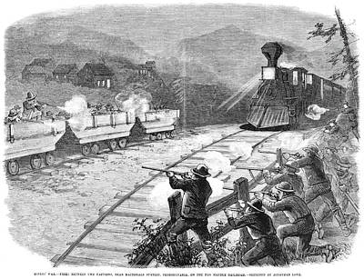 Miners' War, 1874 Print by Granger