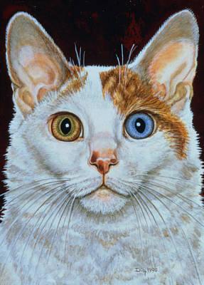 Odd Portrait Painting - Minette by Ditz