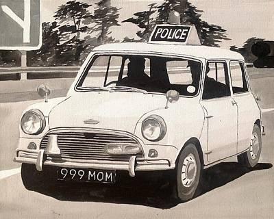 Mini Cooper S Cop Car Original by Sid Fox