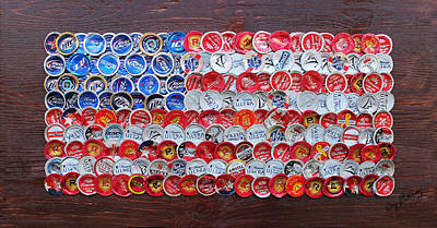 Independence Day Flag Mixed Media - Mini Glory by Kay Galloway