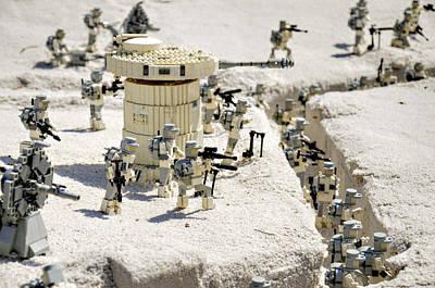 Star Wars Photograph - Mini Hoth Battle by Ricky Barnard