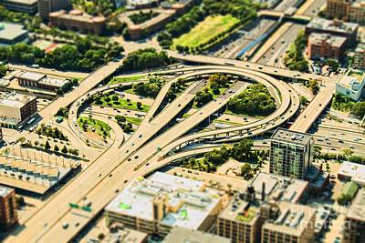 Birds Eye View Photograph - Mini Motorway by Andrew Paranavitana