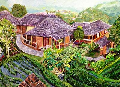 Rooftops Painting - Mini Paradise by Belinda Low