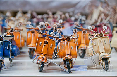Mini Scooters Print by Marion Galt