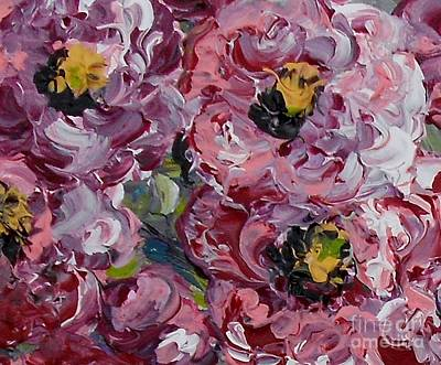 Floral Bouquet Painting - Miniature Antique Roses ... The Faithfulness Of Love by Eloise Schneider