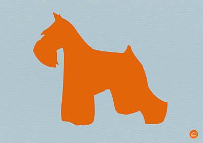 Miniature Schnauzer Orange Print by Naxart Studio