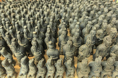 Miniature Warriors, Terra-cotta Print by Stuart Westmorland