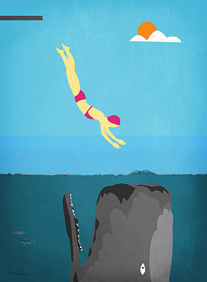 Minimal Sea Life  Print by Mark Ashkenazi