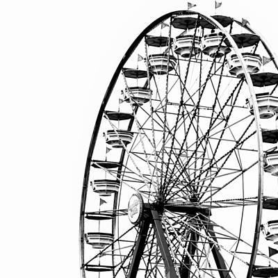 Minimalist Ferris Wheel - Square Print by Jon Woodhams