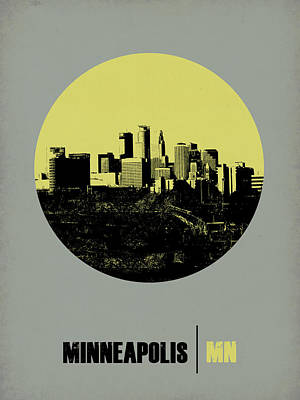 Minnesota Digital Art - Minneapolis Circle Poster 2 by Naxart Studio