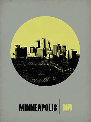 Panoramic Digital Art - Minneapolis Circle Poster 2 by Naxart Studio