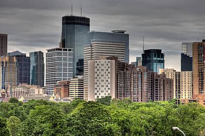 Skylines Photograph - Minneapolis  by Matthew Bamberg