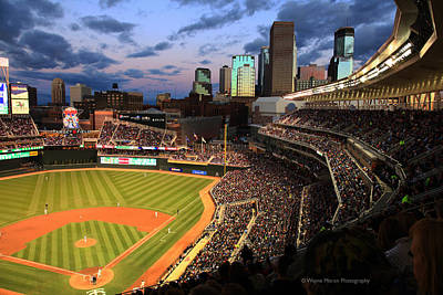 Minnesota Twins Minneapolis Skyline Target Field Print by Wayne Moran